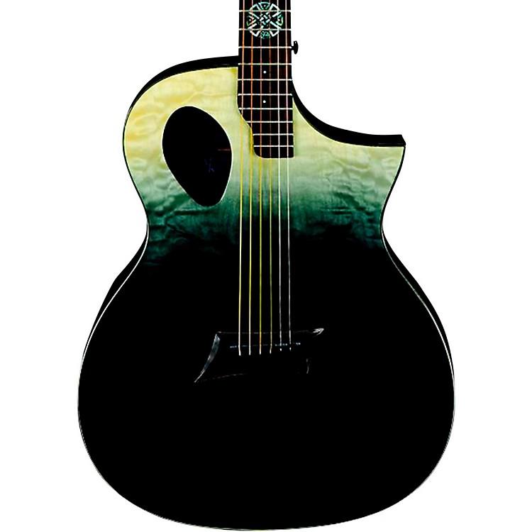 Michael KellyForte Port X Offset Soundhole Cutaway Acoustic-Electric GuitarPartial Eclipse