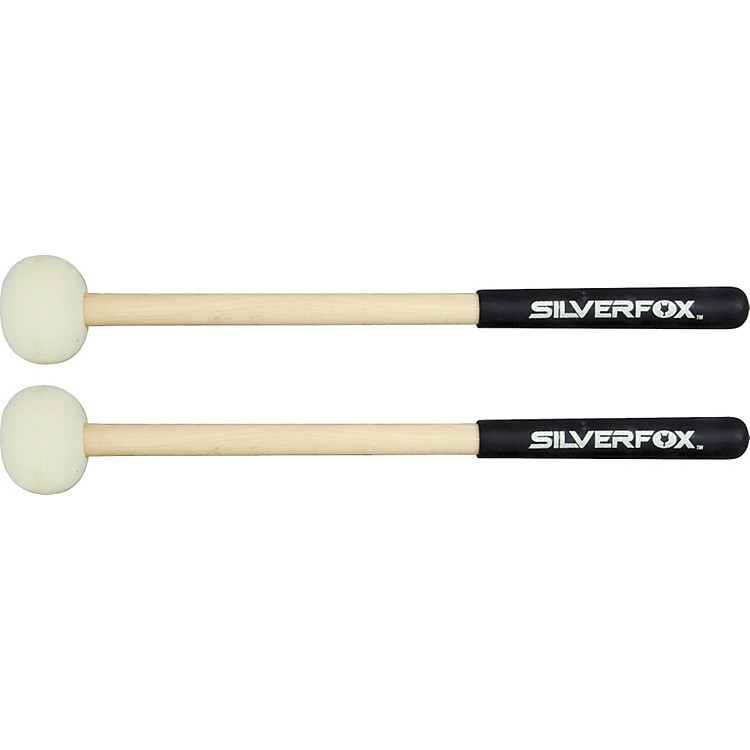 SilverFox Fox Stix Wood Shaft Marching Bass Mallets