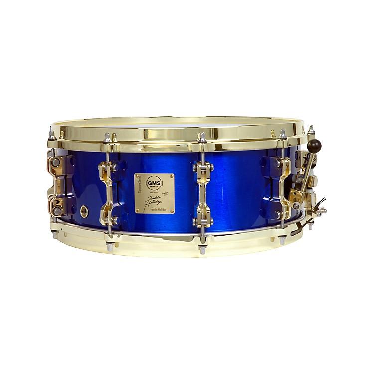 GMSFreddie Holliday Signature Snare DrumCobalt Blue5.5X14