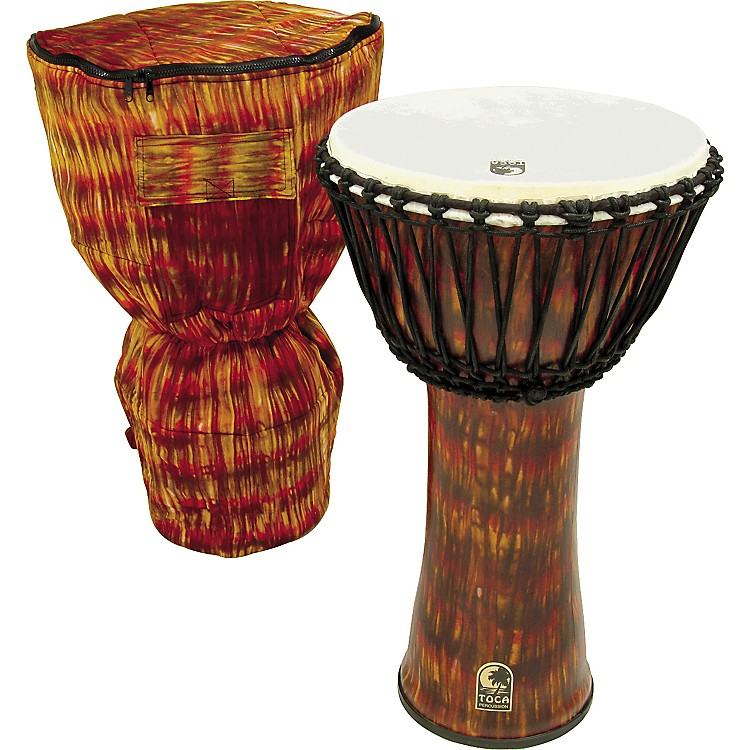 Toca Freestyle Cannon Djembe with Bag Lava 14 Inches