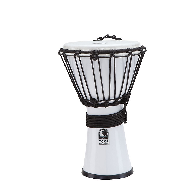 Toca Freestyle ColorSound Djembe Lexus White 7 in.
