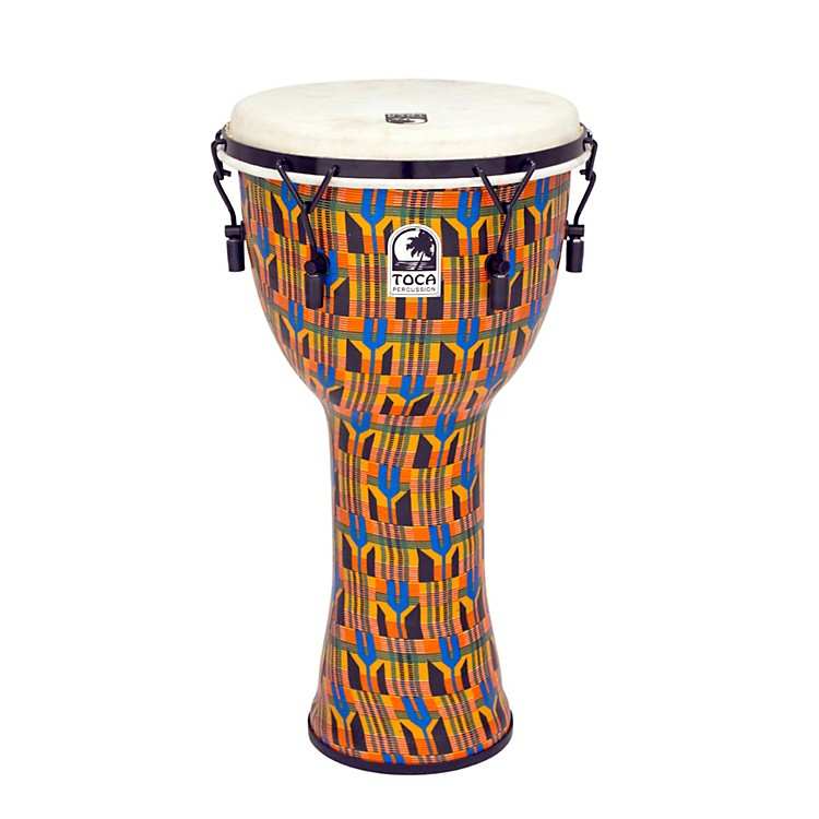 Toca Freestyle Djembe - Kente Cloth Mechanically Tuned 12 in.