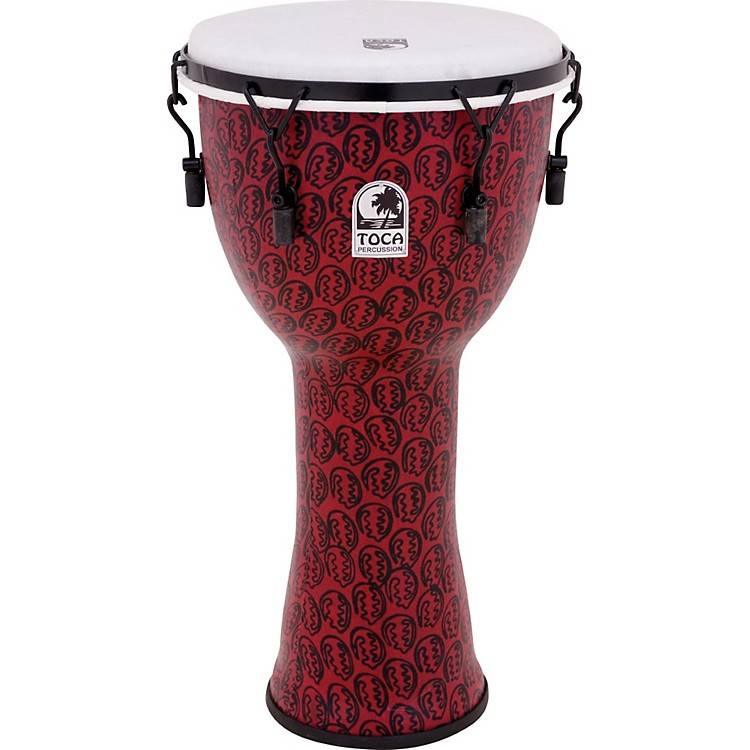 Toca Freestyle II Mechanically-Tuned Djembe 10 in. Red Mask