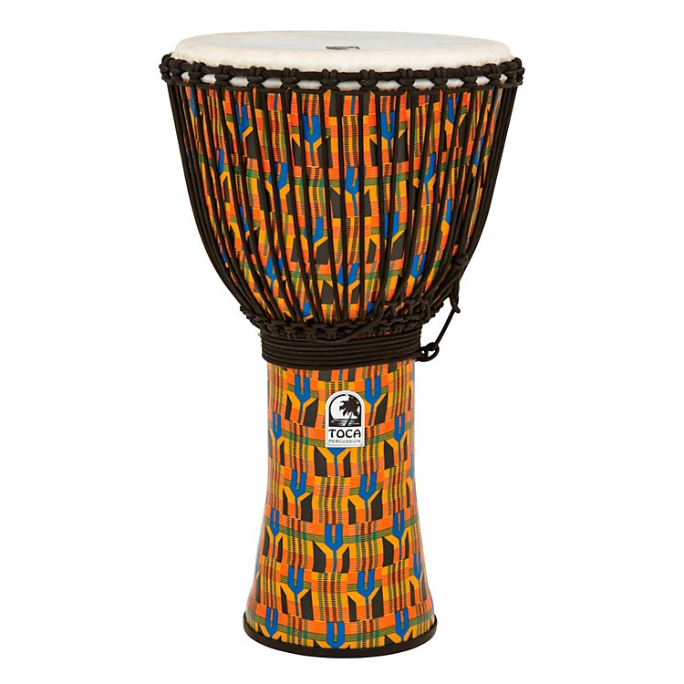 TocaFreestyle Kente Cloth Rope Tuned Djembe14 in.