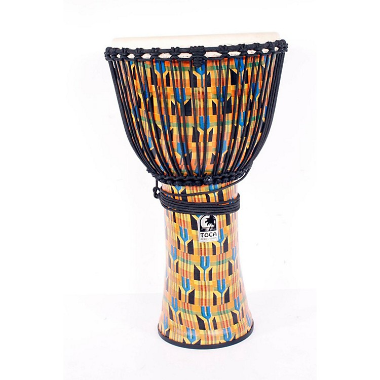 Toca Freestyle Kente Cloth Rope Tuned Djembe 14 Inch 886830906428