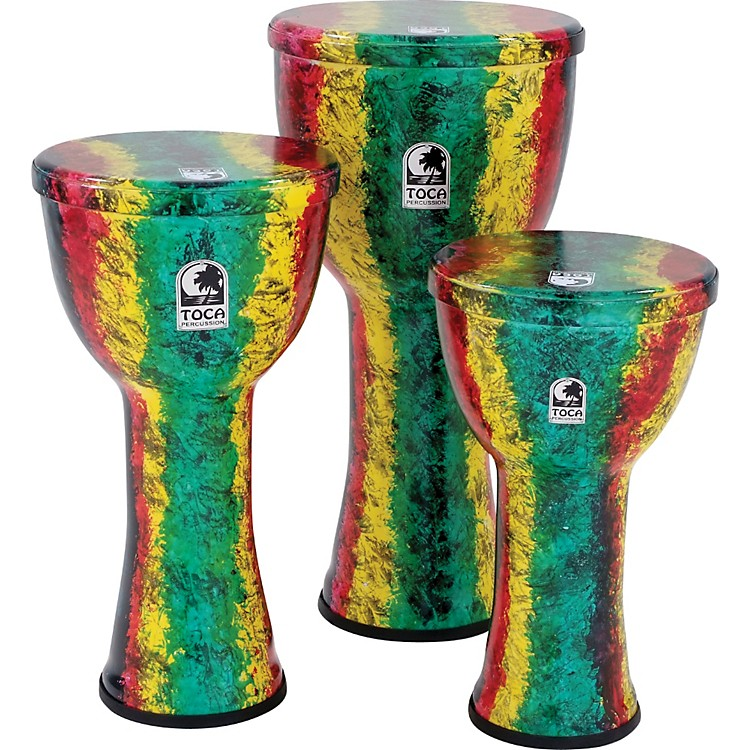 Toca Freestyle Lightweight Djembe Drum 12 in. Rasta