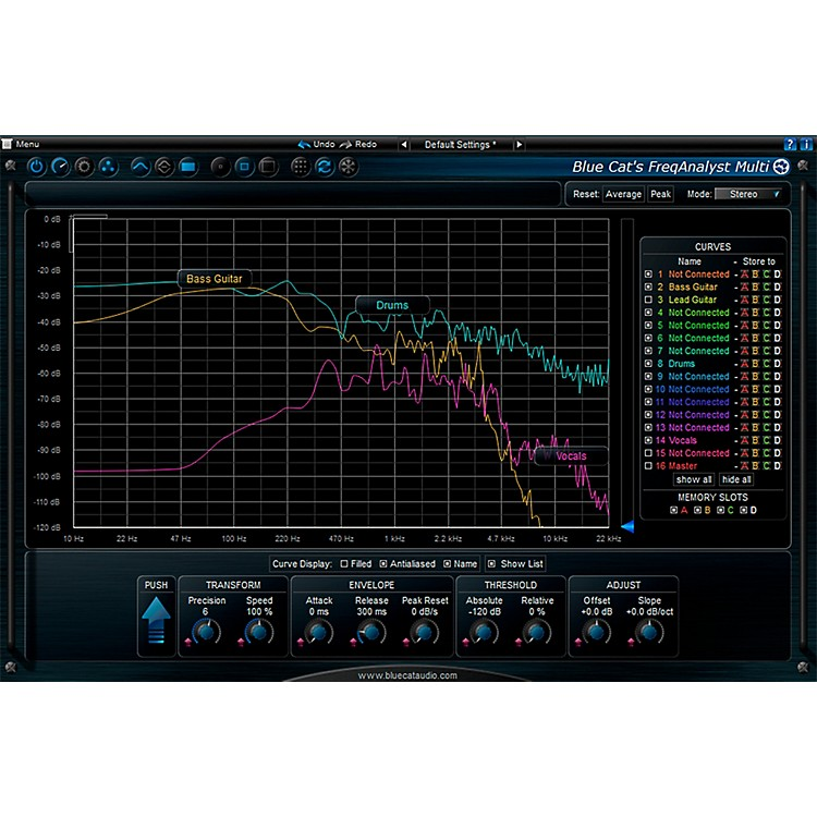 Blue Cat Audio FreqAnalyst Multi Spectrum Analysis Tool Software Download