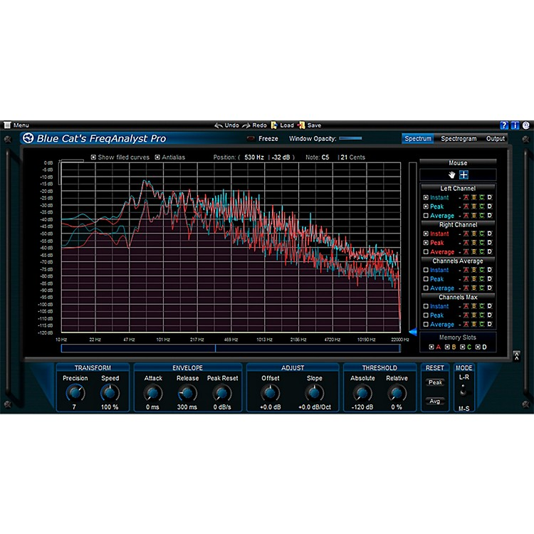 Blue Cat AudioFreqAnalyst Pro Spectrum Analysis ToolSoftware Download