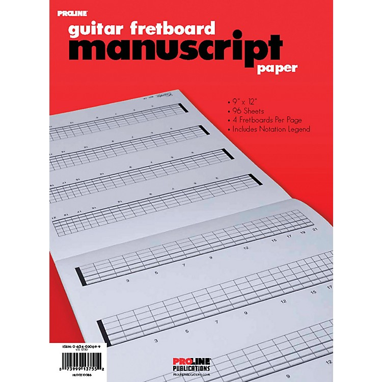 ProLineFretboard Manuscript Paper