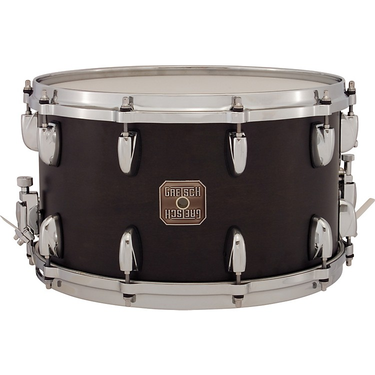 Gretsch Drums Full Range Maple Snare Drum Satin Ebony 8x14