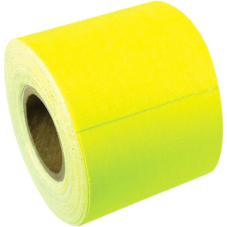 American Recorder Technologies Full Roll Gaffers Tape 2 In x 50 Yards Flourescent Colors Neon Yellow
