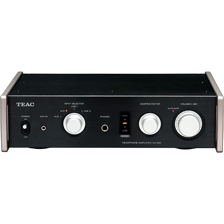 TEACFully Analog Dual Monaural Headphone Amplifier. Black Color