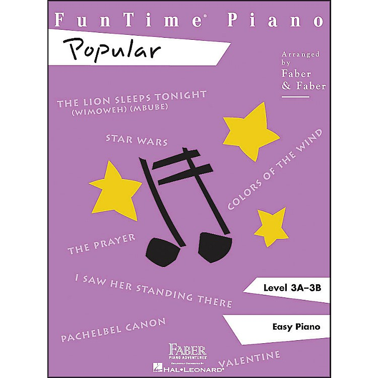Faber Music Funtime Popular Level 3A - 3B Easy Piano