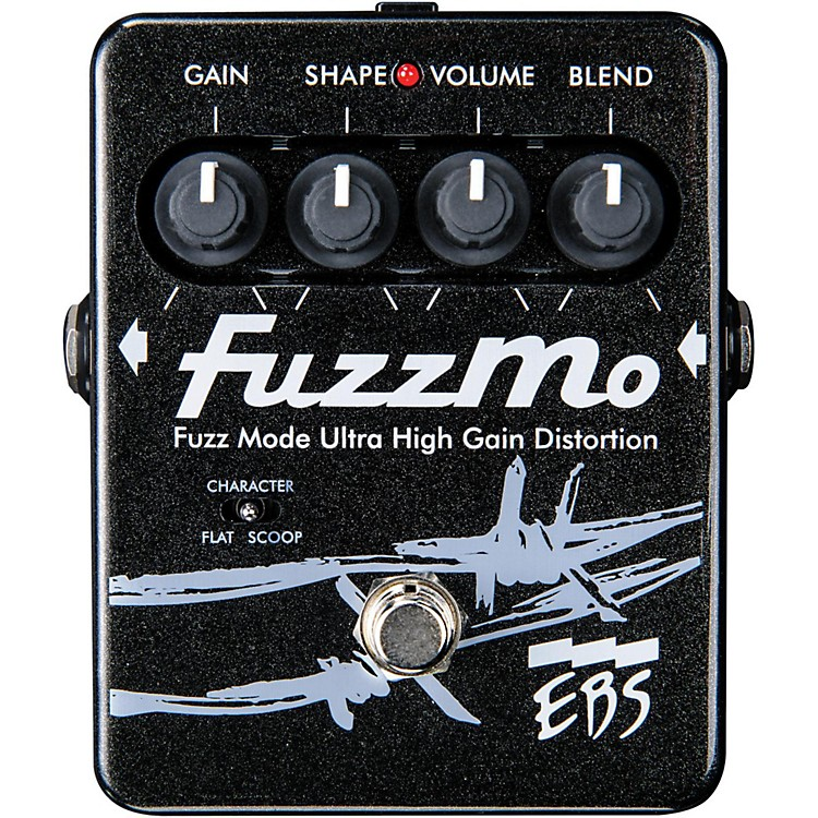 EBS FuzzMo Ultra High Gain Distortion Guitar Effects Pedal