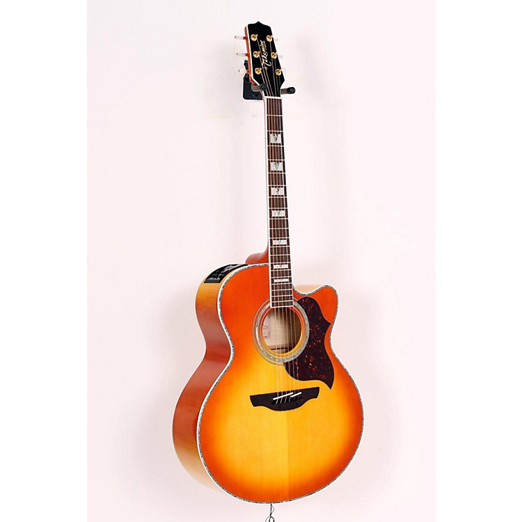 Takamine G Jumbo EG523CDX Acoustic-Electric Guitar Honey Burst 886830907975
