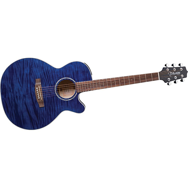Takamine G NEX Flame Maple EG440CS Acoustic-Electric Guitar Blue