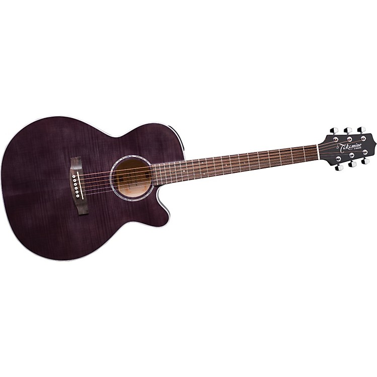 Takamine G NEX Flame Maple EG440CS Acoustic-Electric Guitar Charcoal