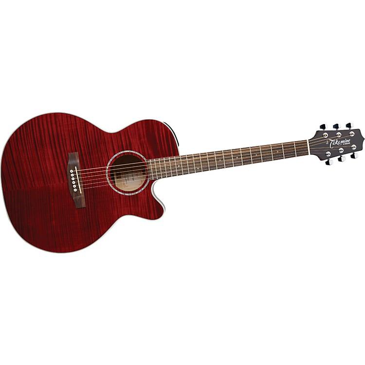 TakamineG NEX Flame Maple EG440CS Acoustic-Electric GuitarRed