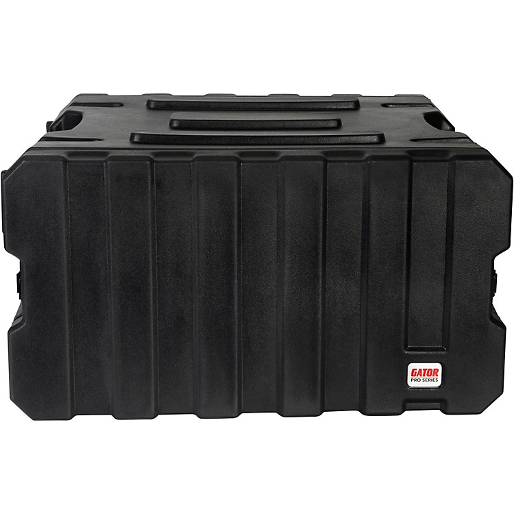 Gator G-Pro Roto Mold Rolling Rack Case Black 6 Space