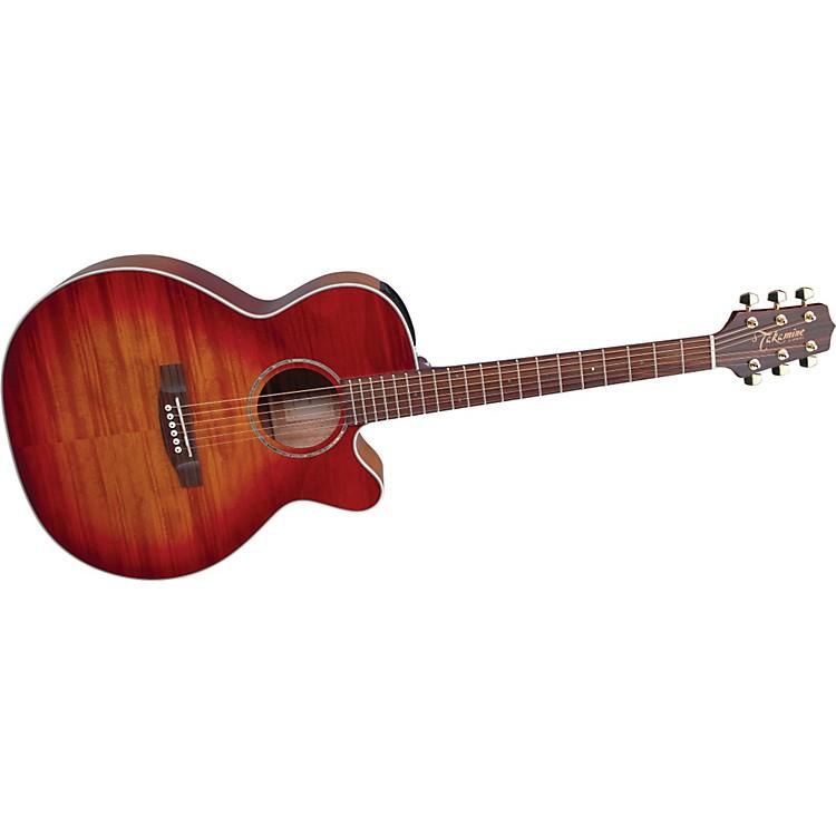TakamineG Series EG444C NEX Flame Maple Acoustic-Electric Guitar