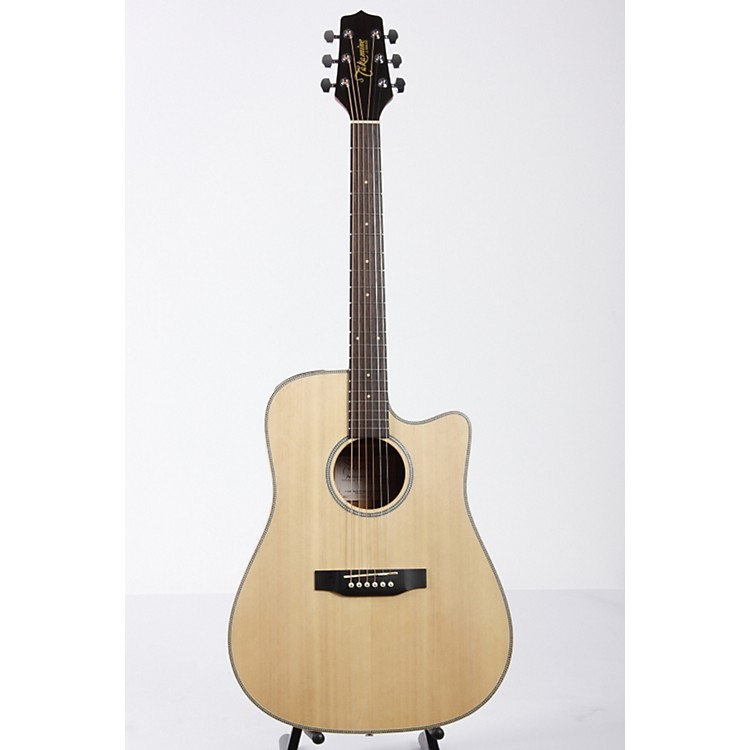 Takamine G Series EG511SSC Cutaway Dreadnought Herringbone Acoustic-Electric Guitar Natural 886830601651