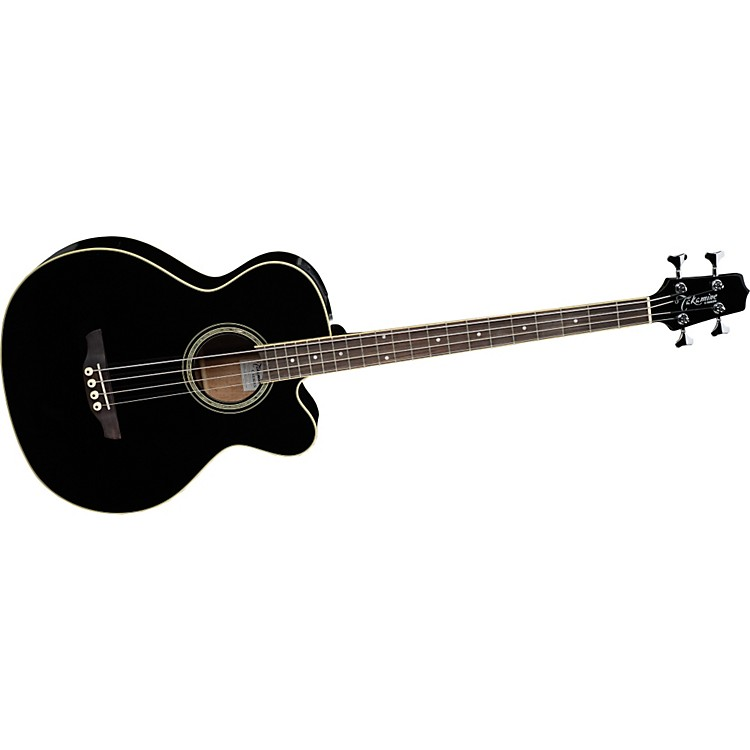 Takamine G Series EGB2S Cutaway Acoustic-Electric Bass Black