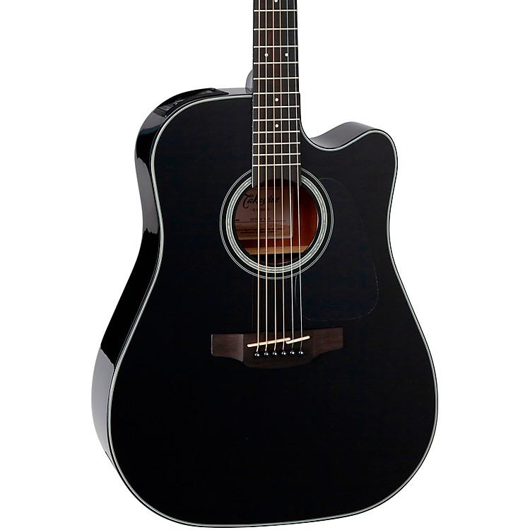 Takamine G Series GD30CE Dreadnought Cutaway Acoustic-Electric Guitar Gloss Black