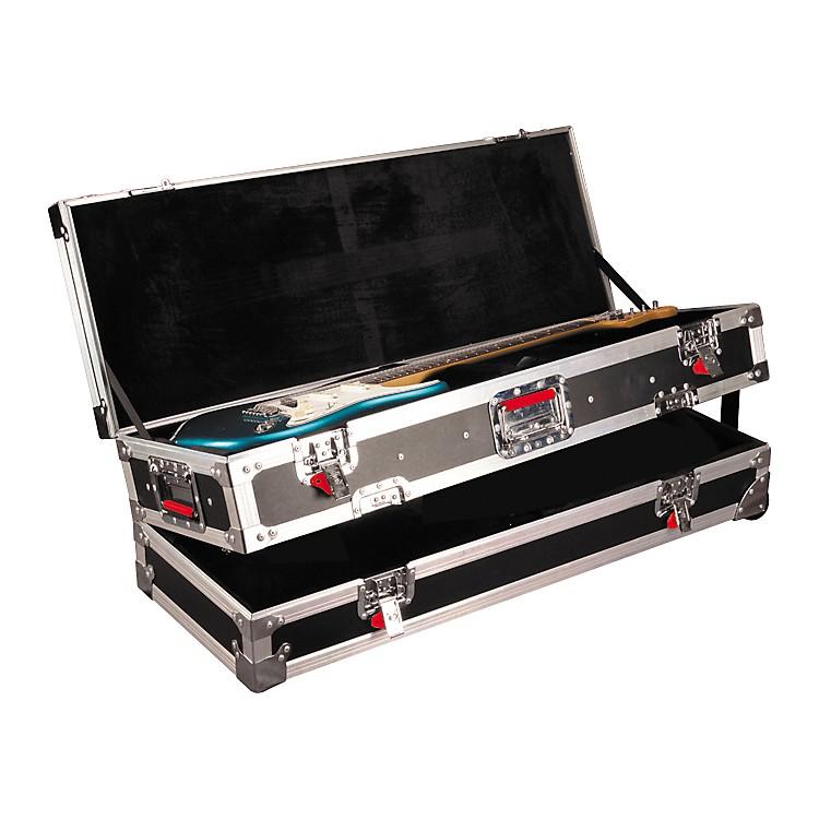 gator g tour st lp double guitar flight case music123. Black Bedroom Furniture Sets. Home Design Ideas