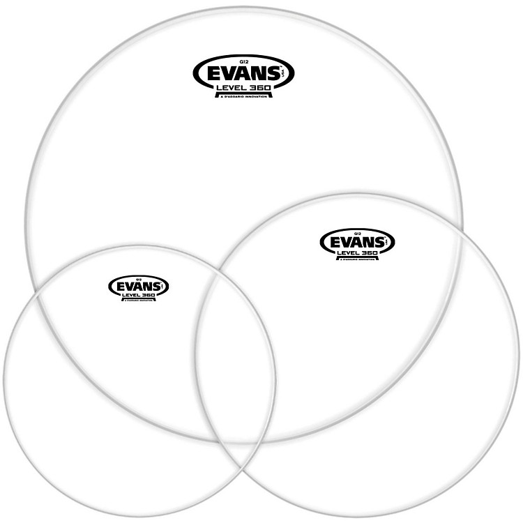 Evans G12 Clear 10/12/14 Fusion Drumhead Pack