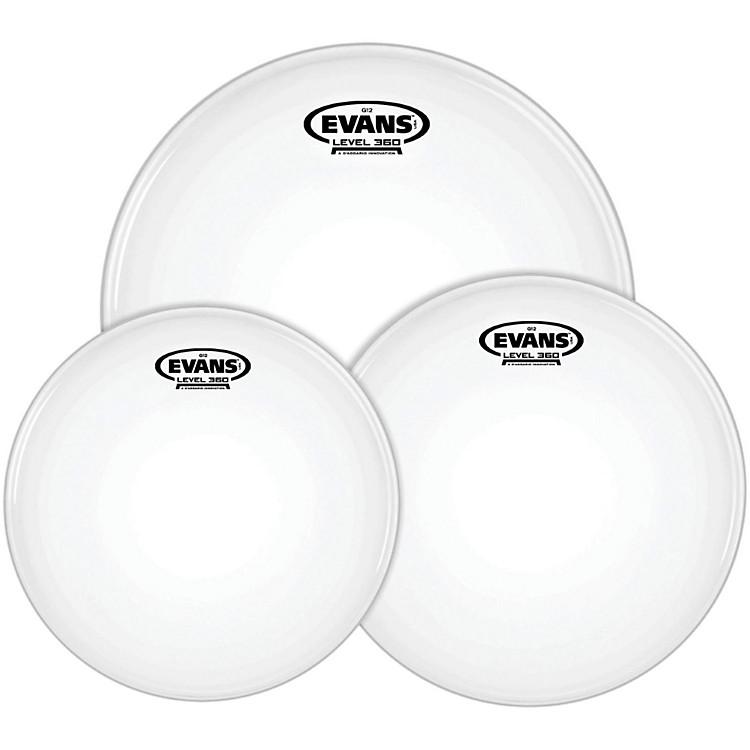 EvansG12 Coated White 10/12/16 Rock Drum Head Pack