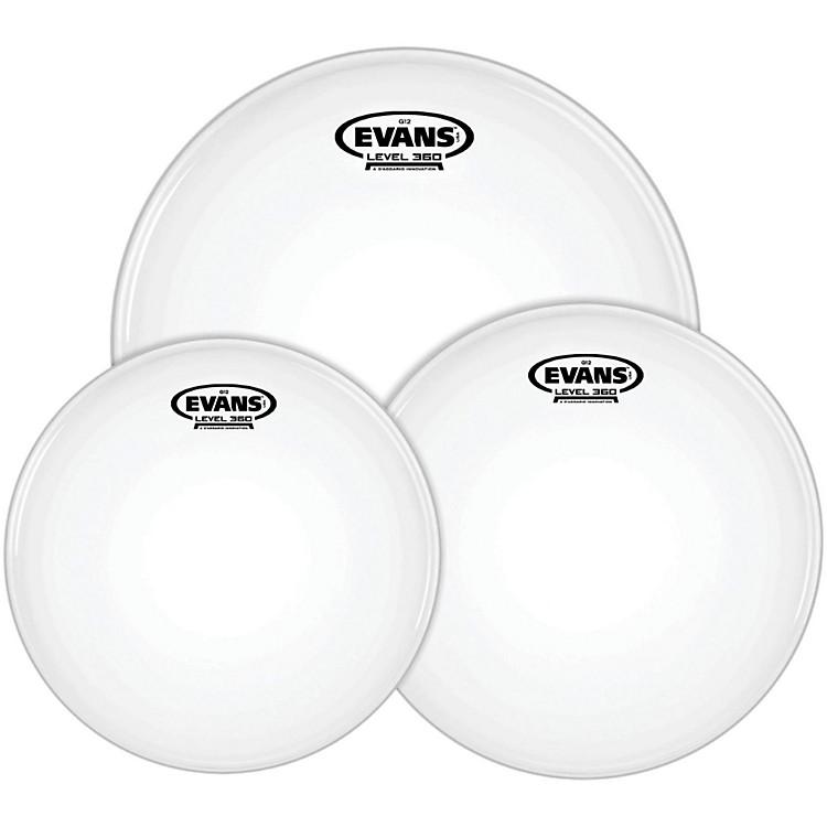 EvansG12 Coated White 12/13/16 Standard Drumhead Pack
