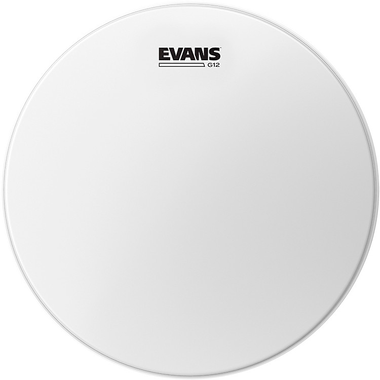 Evans G12 Coated White Batter Drumhead 8 in.