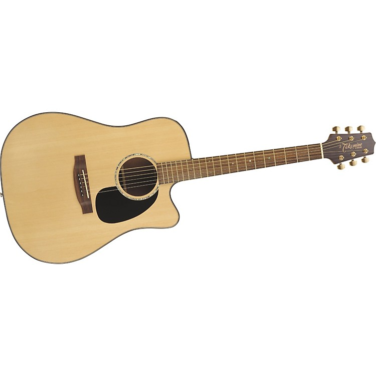 TakamineG340SC Solid Top Cutaway Dreadnought Acoustic Guitar