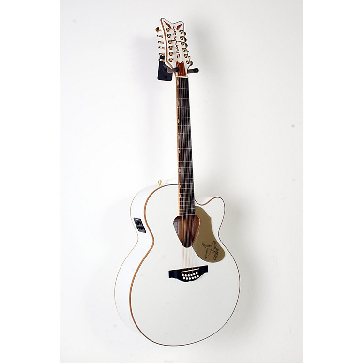 Gretsch Guitars G5022CWFE-12 Rancher Falcon Jumbo 12-String Acoustic-Electric Guitar White 888365908625