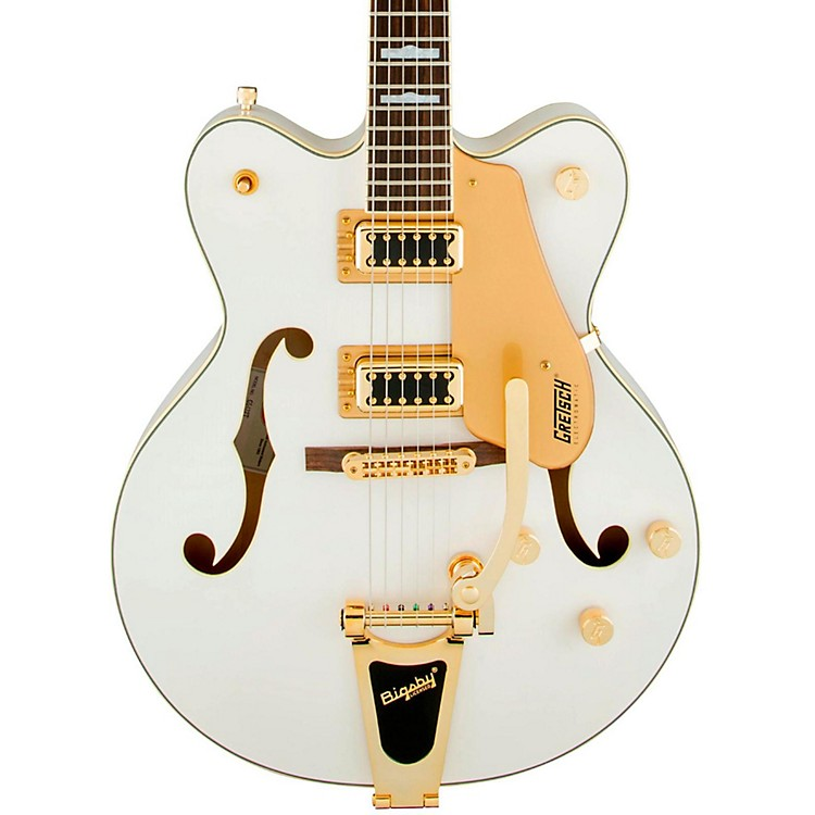 Gretsch Guitars G5422TG Electromatic Double Cut Hollowbody Electric Guitar Snow Crest White