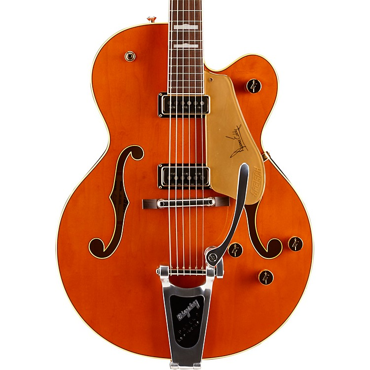 Gretsch Guitars G6120DE Duane Eddy Hollowbody Electric Guitar Western Orange Stain
