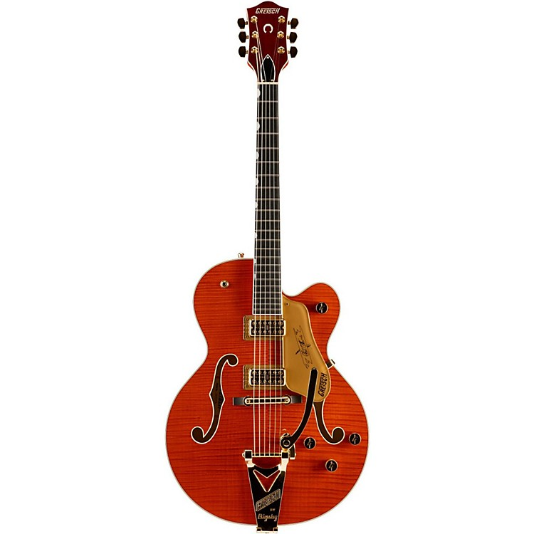 Gretsch Guitars G6120TFM Nashville with Bigsby Hollowbody Electric Guitar Orange Stain