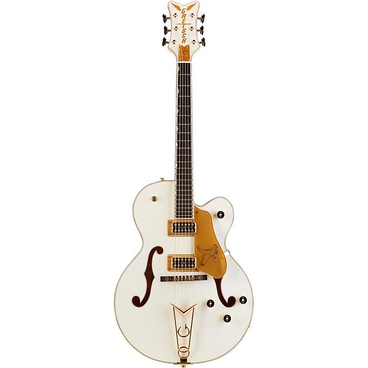 Gretsch GuitarsG6139-CB White Falcon Center BlockWhite W/ Gold SparklBinding