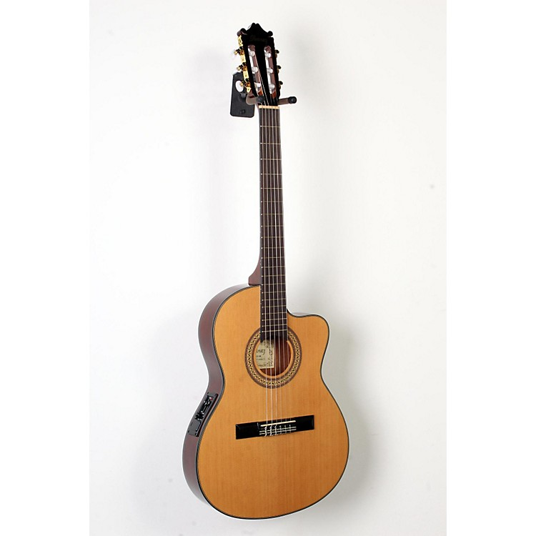 Ibanez GA Series GA5TCE Thinline Classical Acoustic-Electric Guitar Natural 888365894270