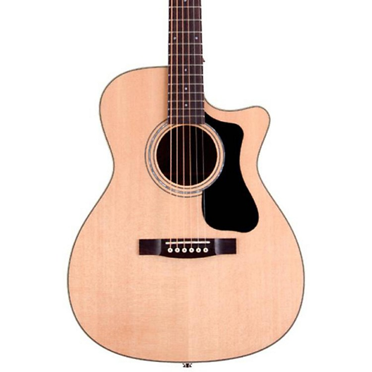 Guild GAD Series F-130CE Orchestra Acoustic-Electric Guitar Natural