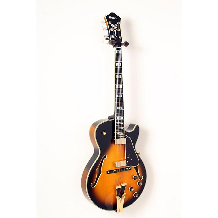 Ibanez GB Series GB10SE George Benson Signature Hollow Body Electric Guitar Brown Sunburst 888365835723