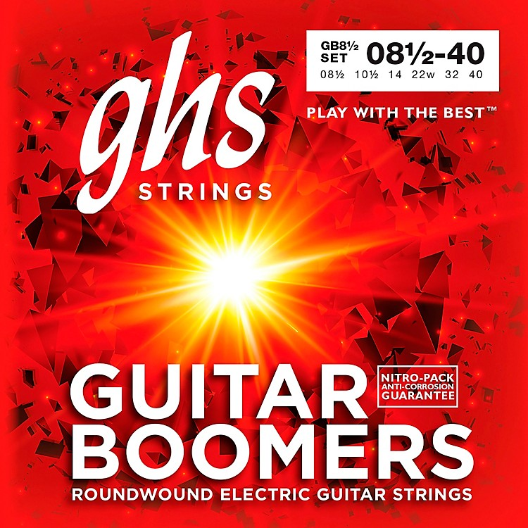 GHS GB8 1/2 Boomers Ultra Light+ Electric Guitar Strings