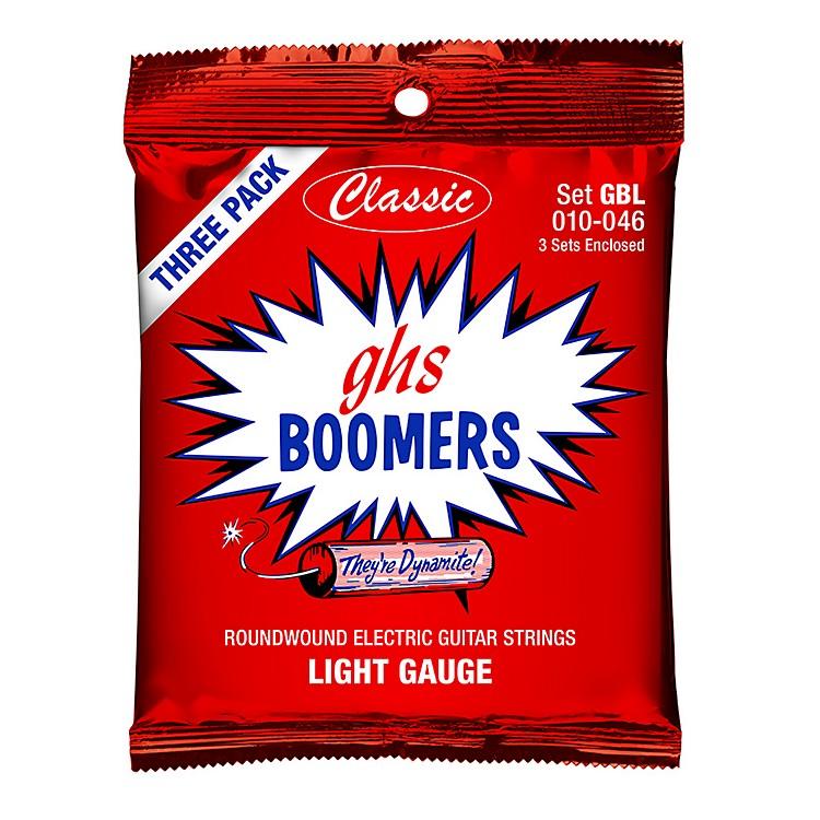 GHSGBL Boomer 3-Pack Classic Electric 10-46 Electric Guitar StringsBlue