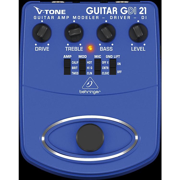BehringerGDI21 V-Tone Guitar Driver DI Guitar Amp Modeler/Direct Recording Preamp/DI Box Effects Pedal