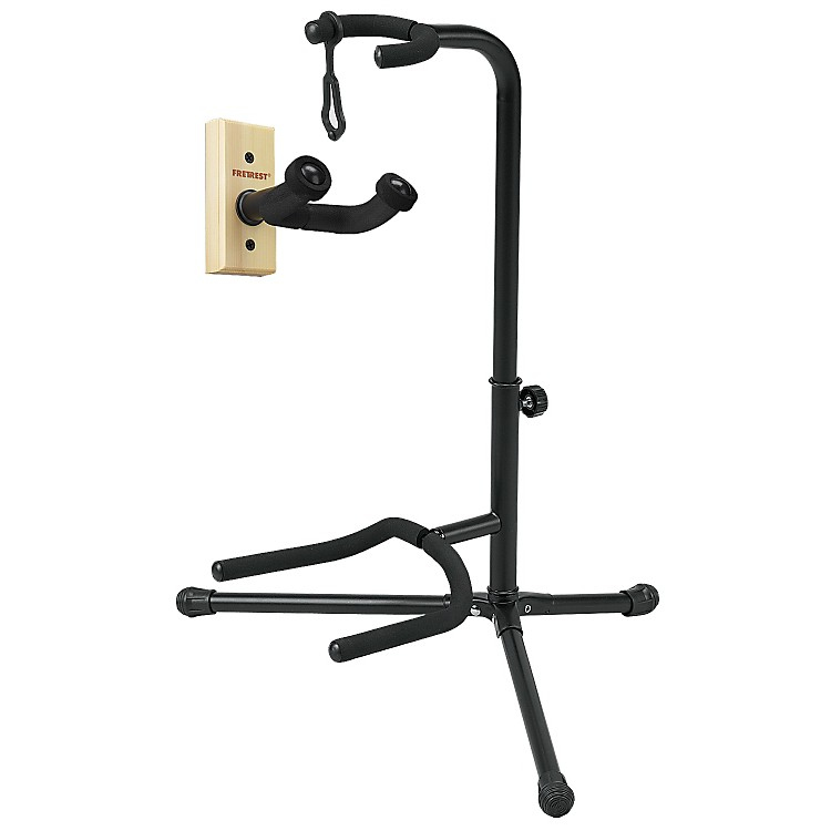 FretRest by Proline GH1 Guitar Wall Hanger and GS5 Guitar Stand Package