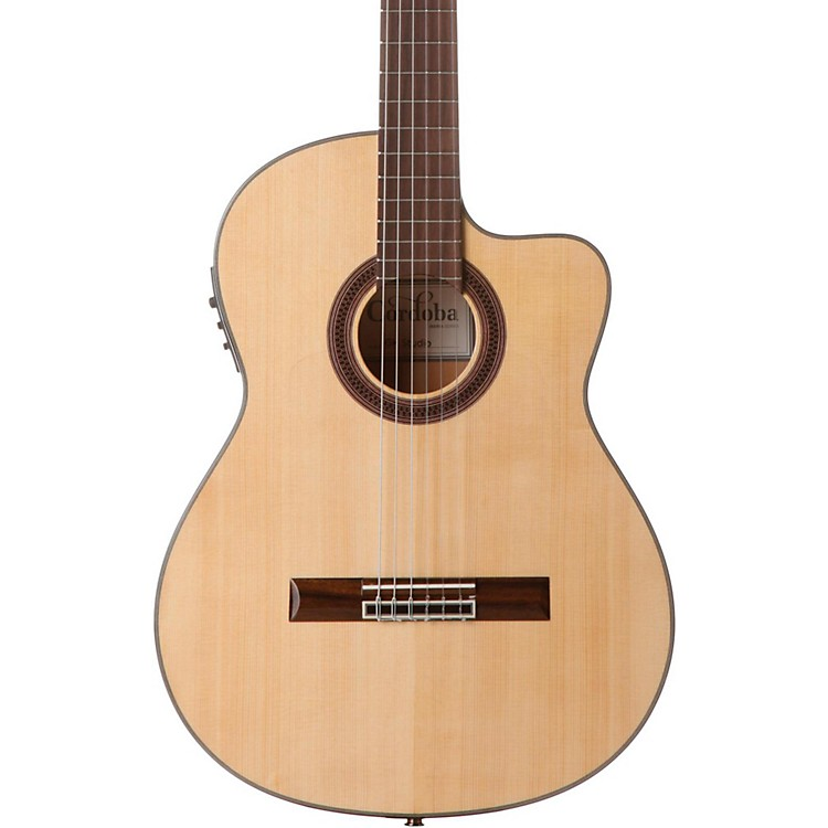 Cordoba GK Studio Acoustic-Electric Nylon String Flamenco Guitar Natural