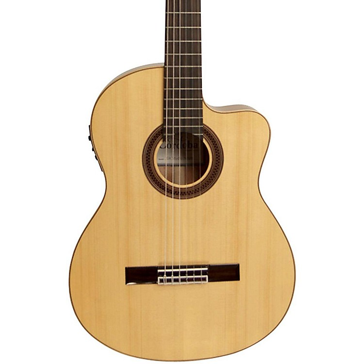 CordobaGK Studio Negra Acoustic-Electric Nylon String Flamenco GuitarNatural