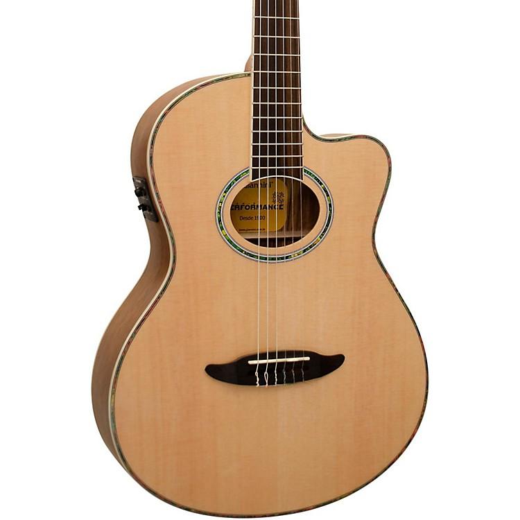 GianniniGNF-8R CEQ Cutaway Nylon String Acoustic-Electric GuitarSatin Natural