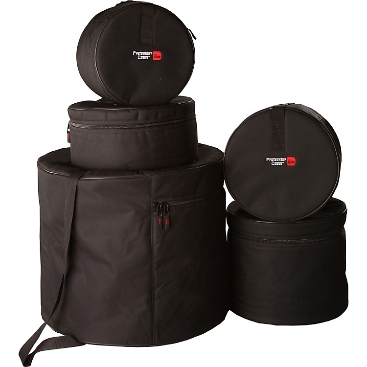 Gator GP-Standard-100 Padded 5-Piece Standard Drum Bag Set Black