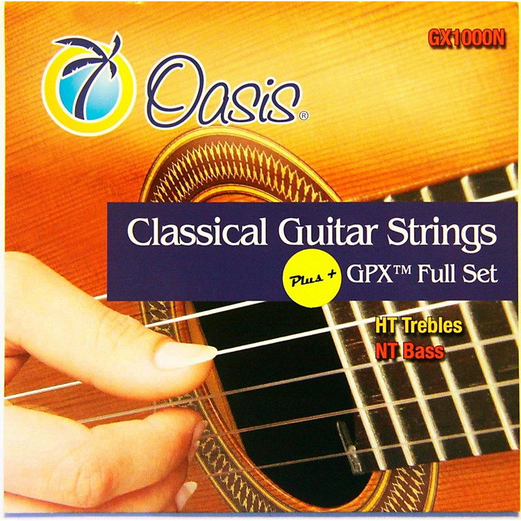 OasisGPX+ Classical Guitar Strings High Tension GPX Carbon Trebles/Normal Tension Sostenuto Basses